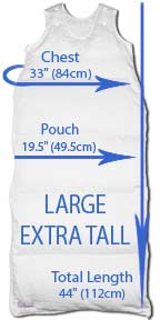 Large extra tall size dimensions
