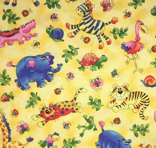 Yellow Safari Print