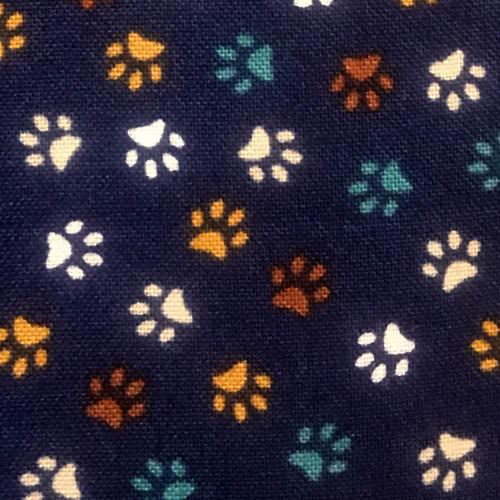 Paw Prints Blue Swatch