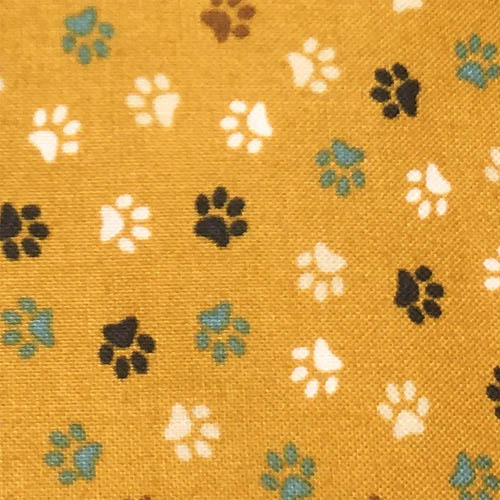 Golden Paws Print Swatch